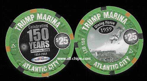 MAR-25l Trump Marina $25 150th Annaversary chip Very Limited Only(150)