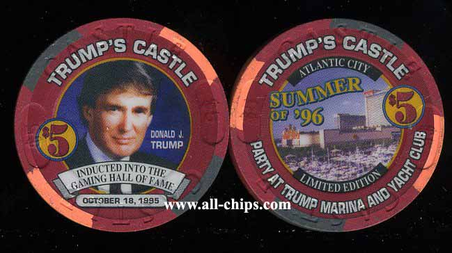 CAS-5y $5 Trump Castle Inducted into the Gaming Hall of Fame OCT. 181995